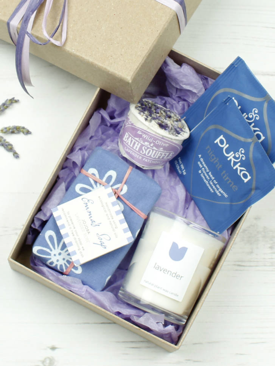 And relax… - Why not pamper a loved one with this lovely lavender-themed gift set from The Natural Gift Company? Containing British-made and natural products without any chemicals, you'll get a handmade soap bar, scented candle, lavender and patchouli bath soufflé and calming Pukka Night Time tea bags (one of my favourites). All products from this family run Wiltshire-based company boast being sustainable and ethical so you can feel good about shopping from them too.