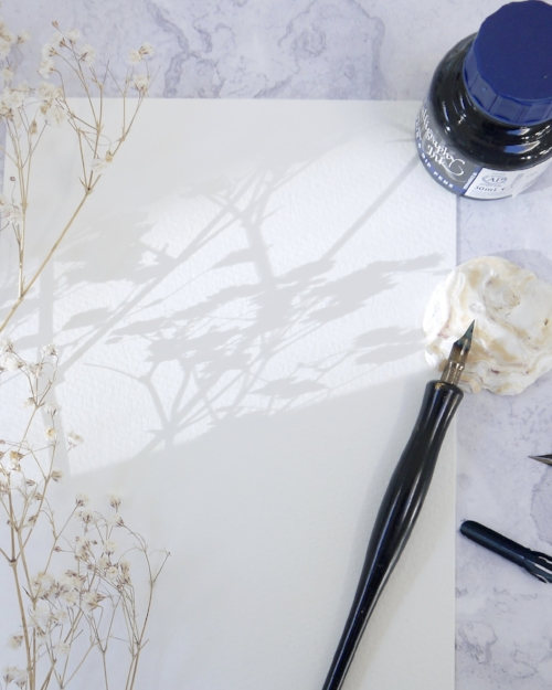 Christmas calligraphy workshops in Wells, Somerset