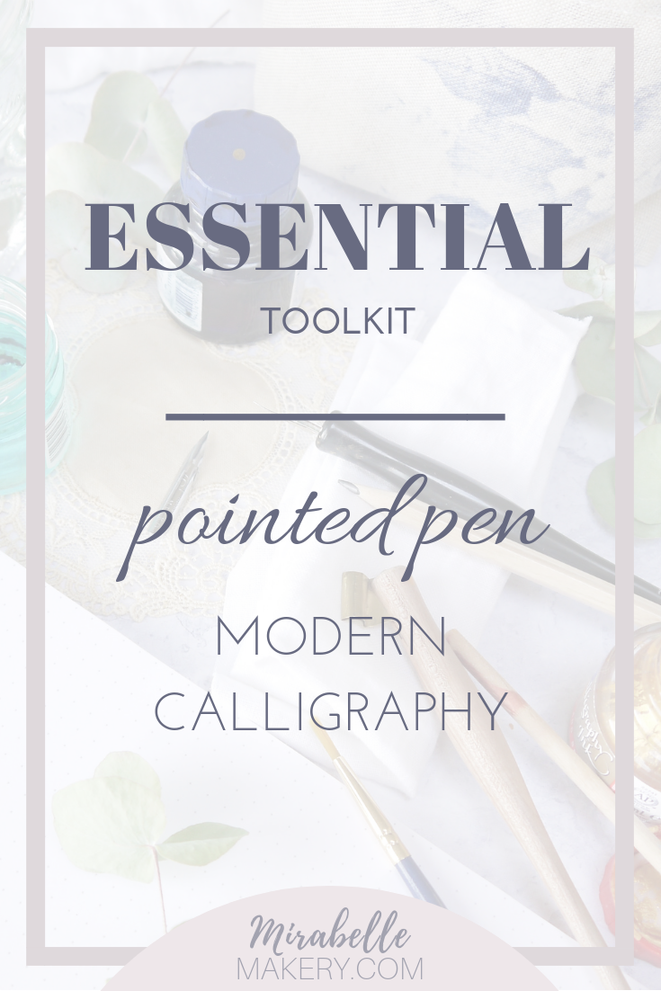 How to get started with modern calligraphy and the materials you need