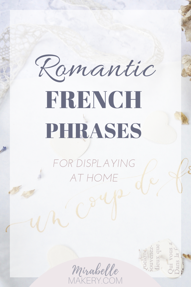 French phrases for romantic home decor