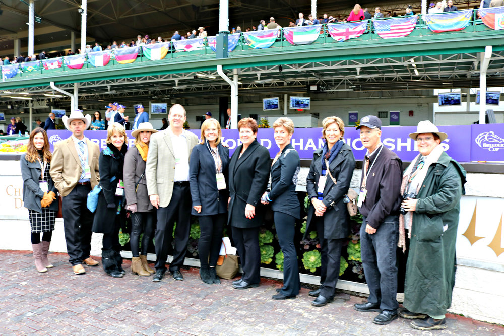 With the historic Twin Spires at Churchill Downs in Louisville, Ky., as the backdrop, family members of native Nebraskans and National Hall of Fame Horsemen –  John A. Nerud , and father-and-son trainers,  Marion and Jack Van Berg  -- recently gathered in the Winner's Circle to represent the accomplishments of their patriarch descendants during the 35th running of the   Breeders' Cup World Championships  .