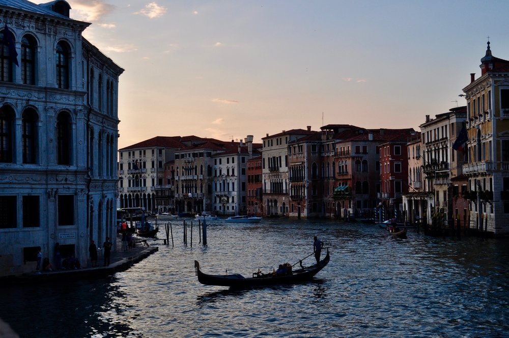 The first sunset of our Honeymoon, overlooking the Grand Canal.