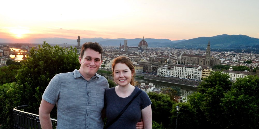 Watching the sunset from Piazzale Michelangelo overlooking Florence.