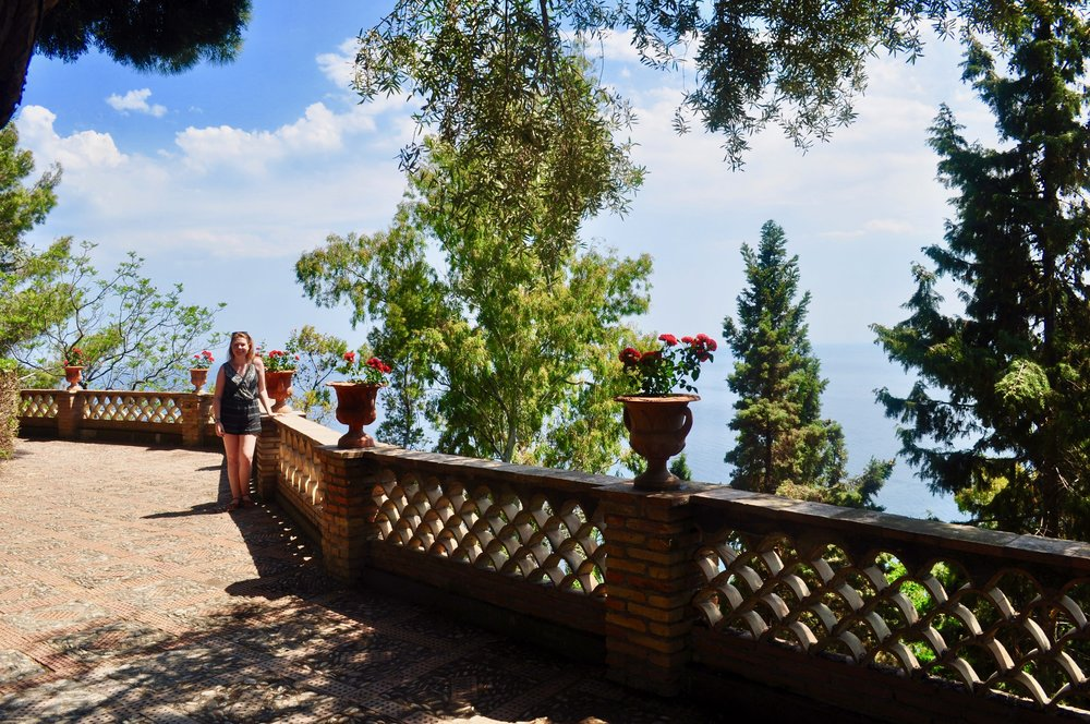 Panoramic Walkway in the Public Garden of Taormina