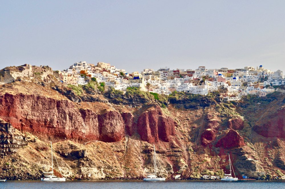 Caldera and Cable Cars: The Perfect Day in Santorini Greece - A Happy Passport #santorini #greece #oia
