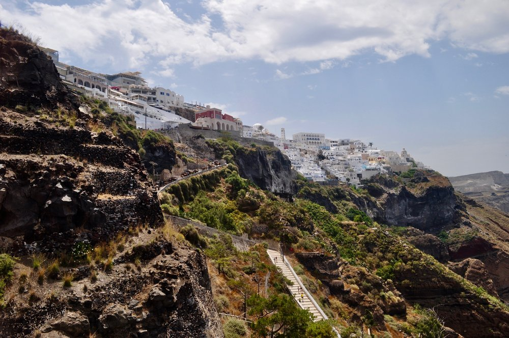 Caldera and Cable Cars: The Perfect Day in Santorini Greece - A Happy Passport #santorini #greece #fira