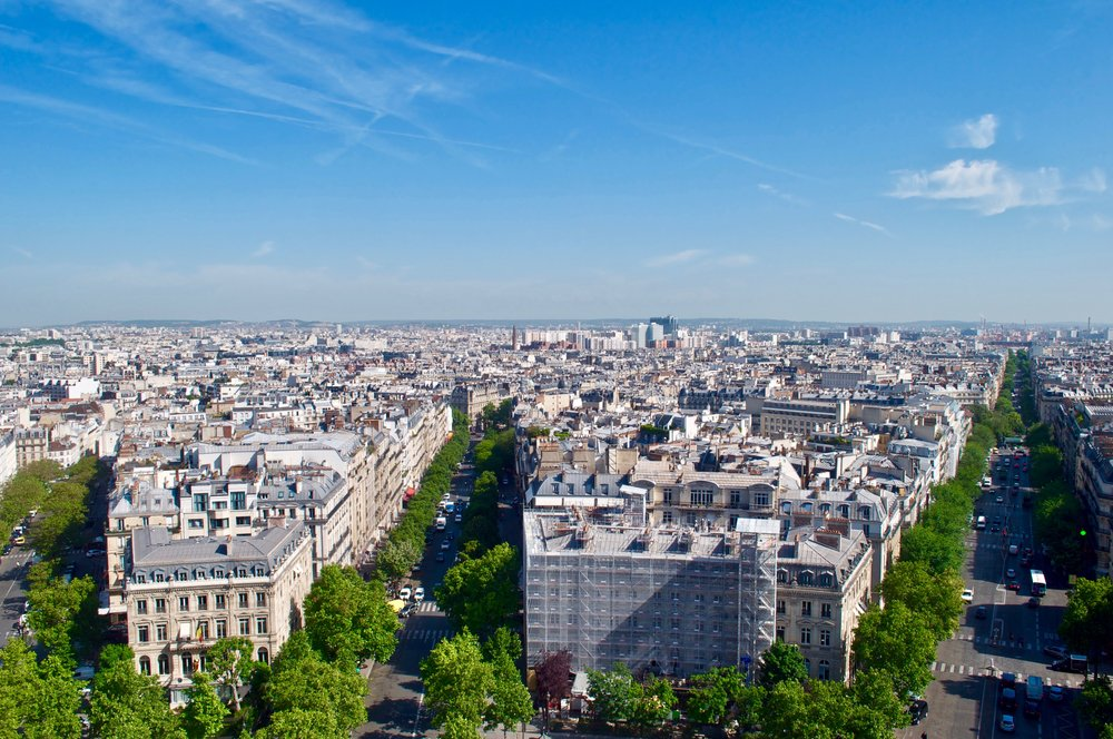 View from the Arc de Triomphe, Paris, France - The Ultimate Northern France Itinerary