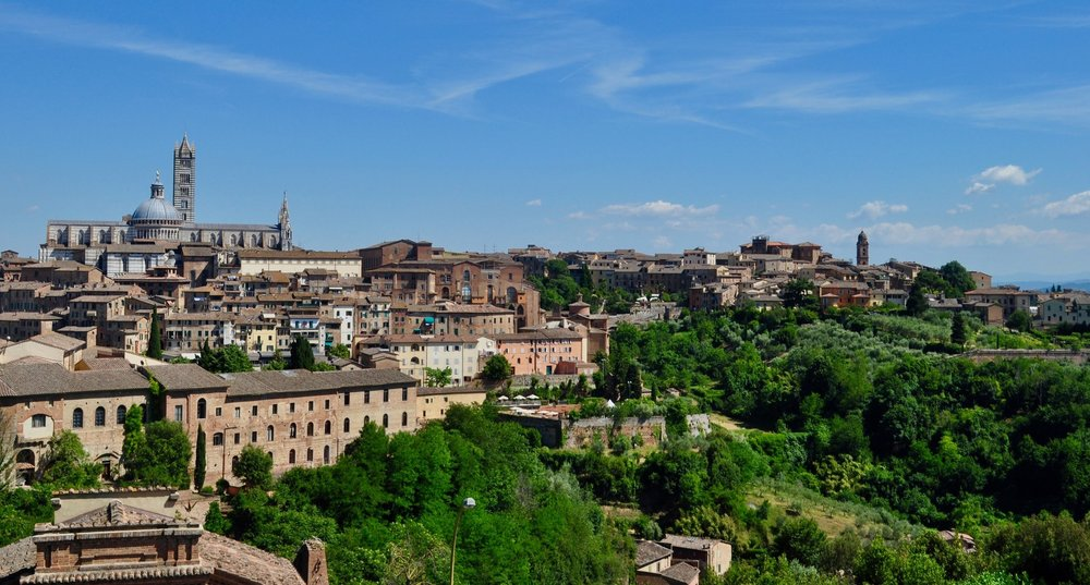 View of Siena, Italy from Fortezza Medicea