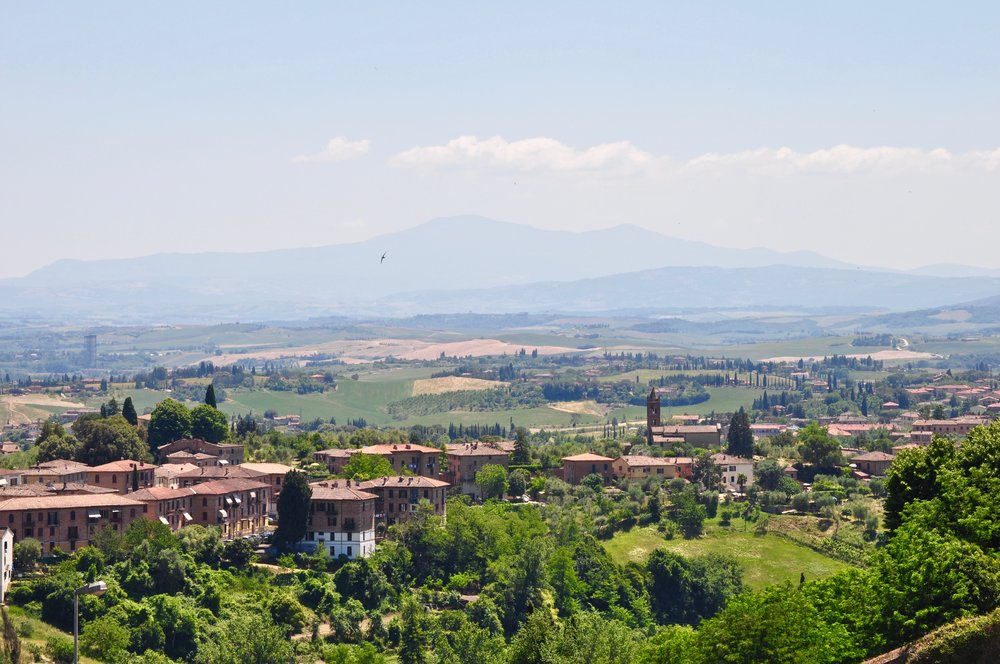 Tuscany countryside from Siena, Italy - Scenic Day Trip to Siena from Florence, Italy - A Happy Passport