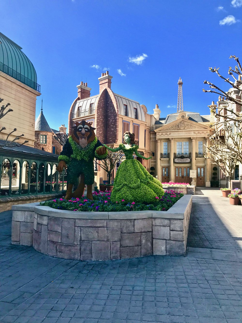 Walt Disney World France Pavilion Beauty and the Beast Flowers - How to Make the Most of Disney Theme Parks as an Adult