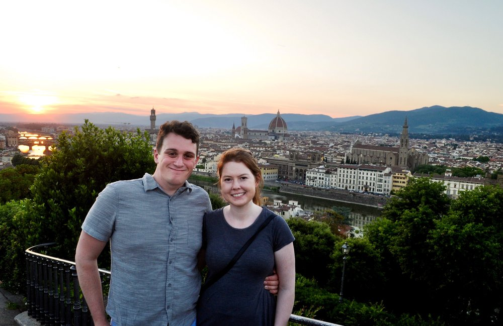 Sunset at Piazzale Michelangelo - A Happy Passport