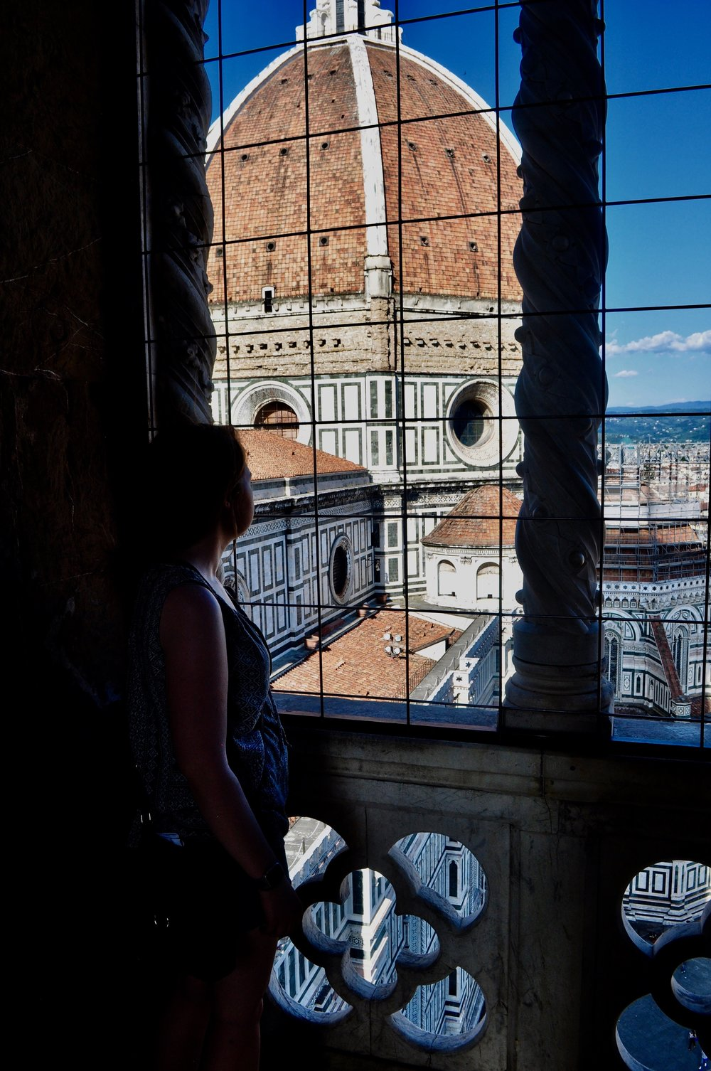 Viewing the Florence Duomo from the Bell Tower