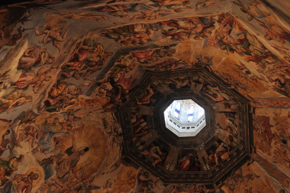 Inside of the Dome in Florence