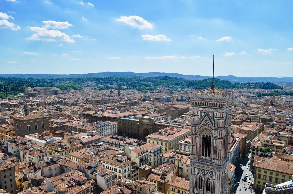 View from the top of the Duomo in Florence Italy