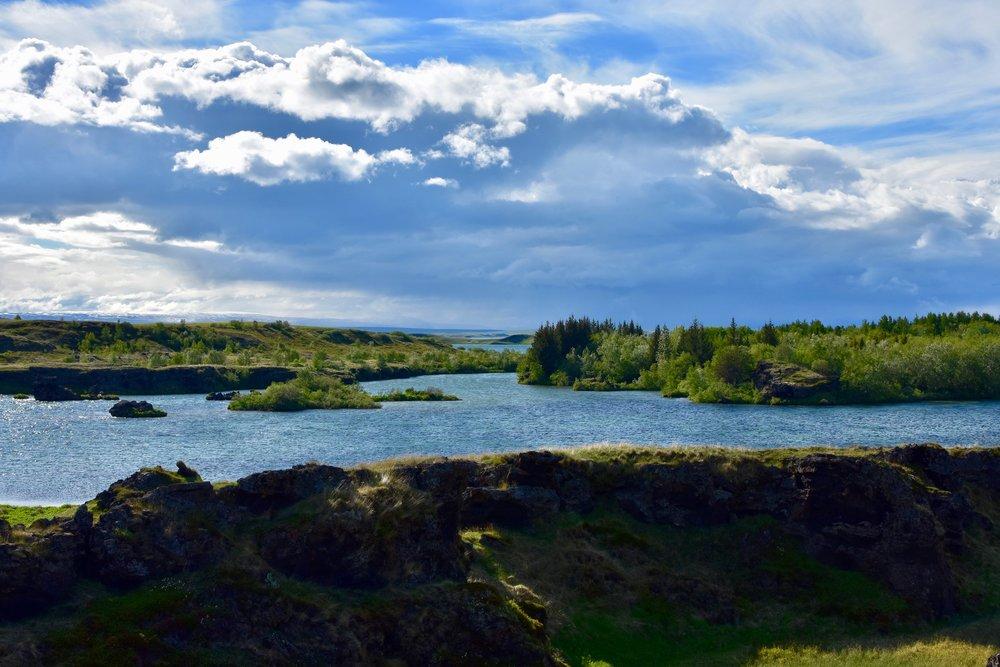 Skútustaðagígar pseudo craters at Lake Mývatn