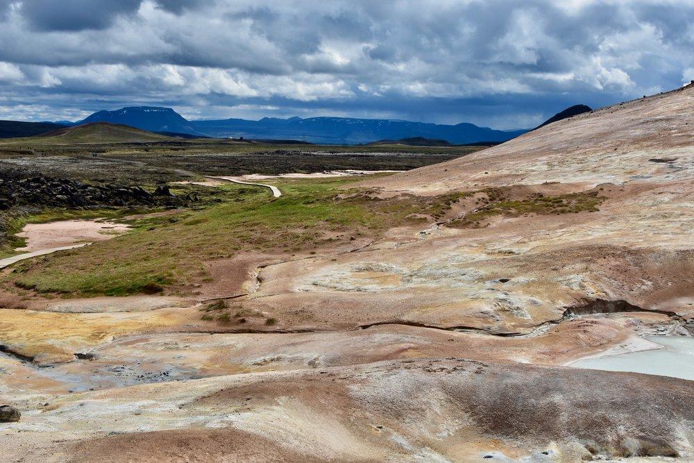 Leirhnjúkur lava fields in Krafla geothermal area in Northeast Iceland