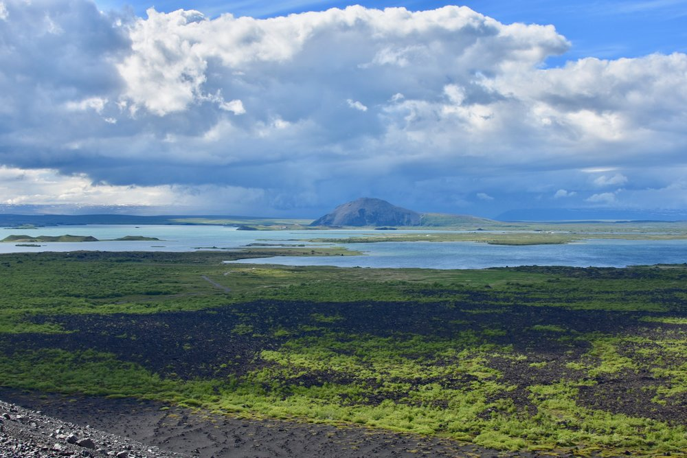 View of Lake Myvatn from Hverfjall Crater