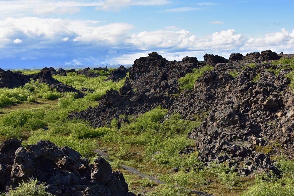 Dimmuborgir lava rock field at Lake Myvatn