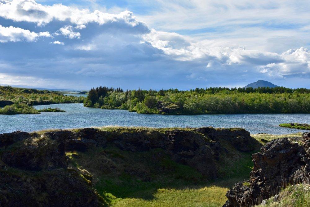 Skútustaðagígar pseudocraters at Lake Myvatn