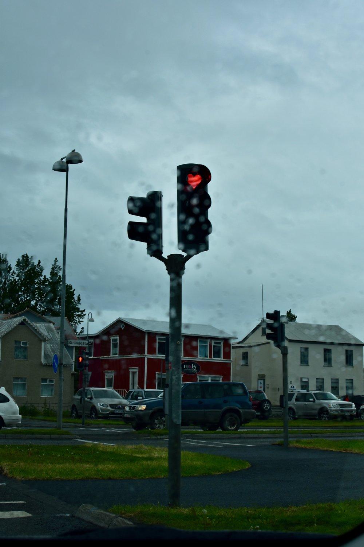 Heart Stop Lights in Akureyri