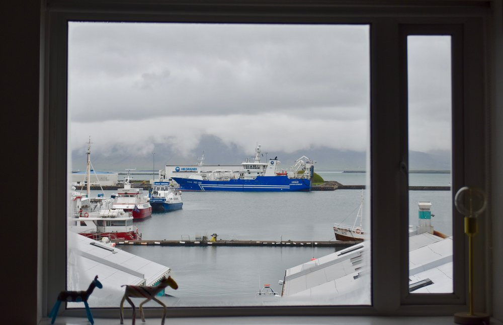 View out Reykjavík Marina Studio Apartment