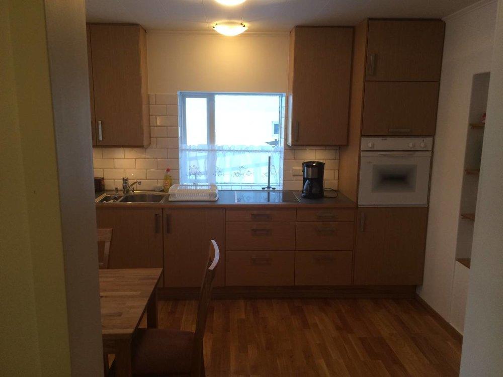 Spacious Kitchen in Akureyri Apartment