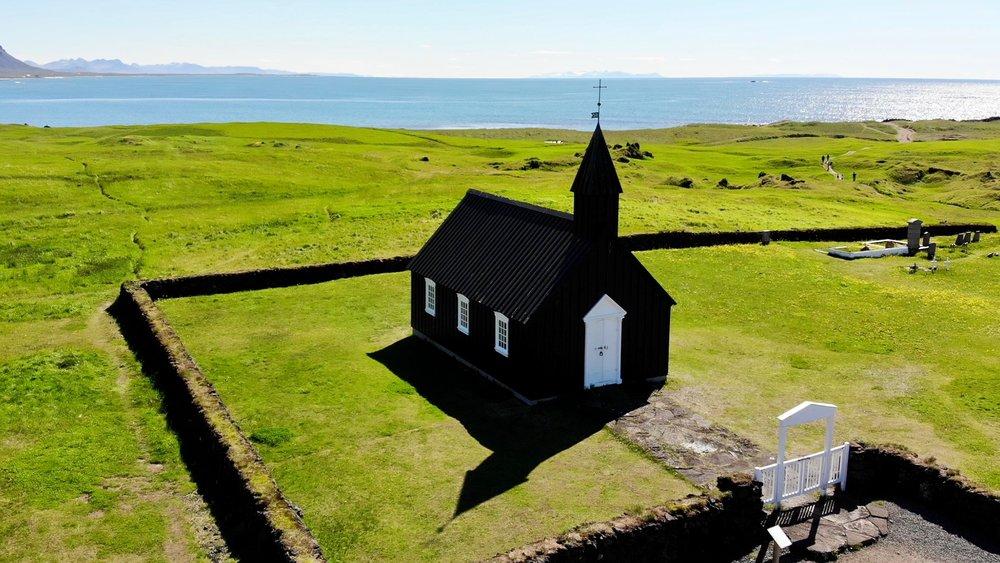BÚÐAKIRKJA on Snæfellsnes Peninsula, Iceland