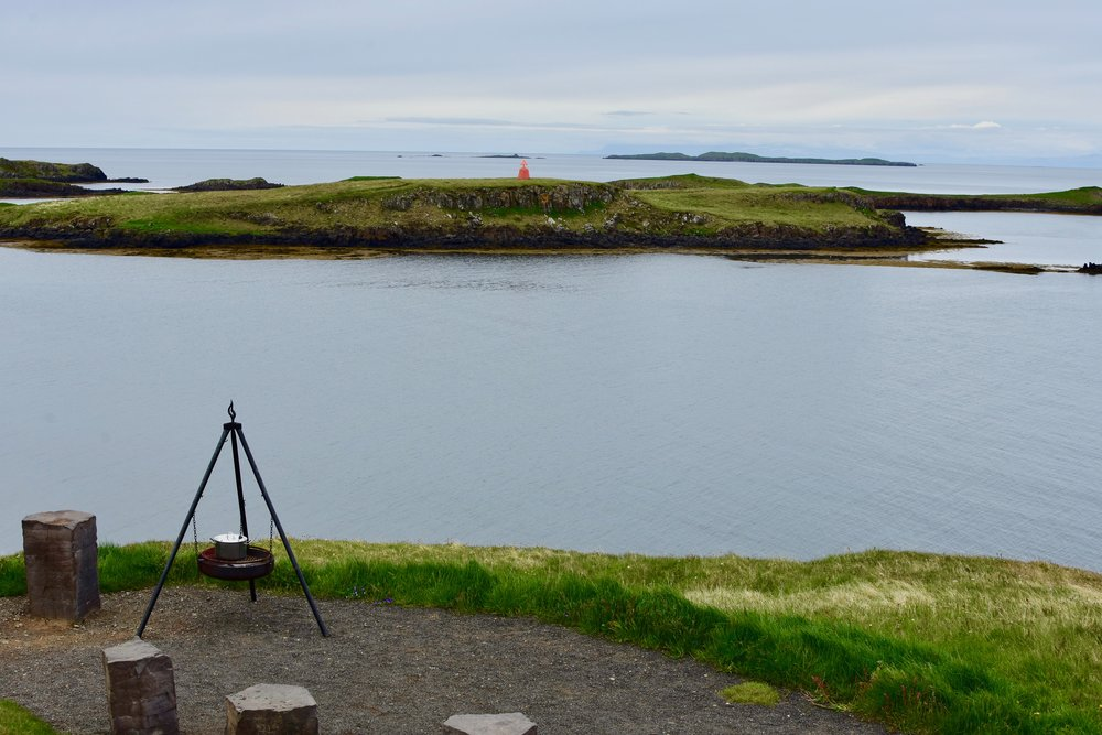 Picnic spot near Stykkishólmur on Snæfellsnes Peninsula