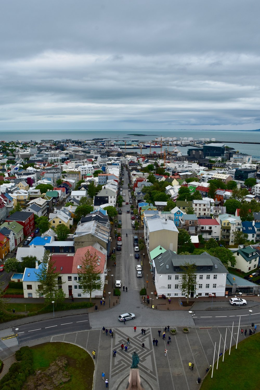 View of Reykjavik, Iceland from Hallgrimskirkja