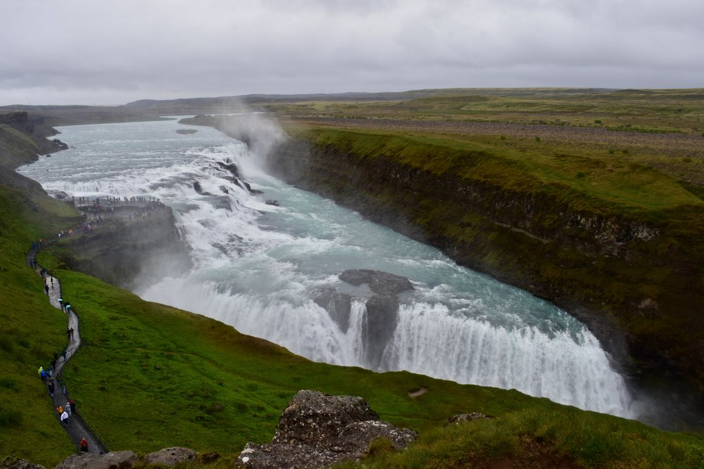 Gullfoss Waterfall on Iceland's Golden Circle near Reykjavik