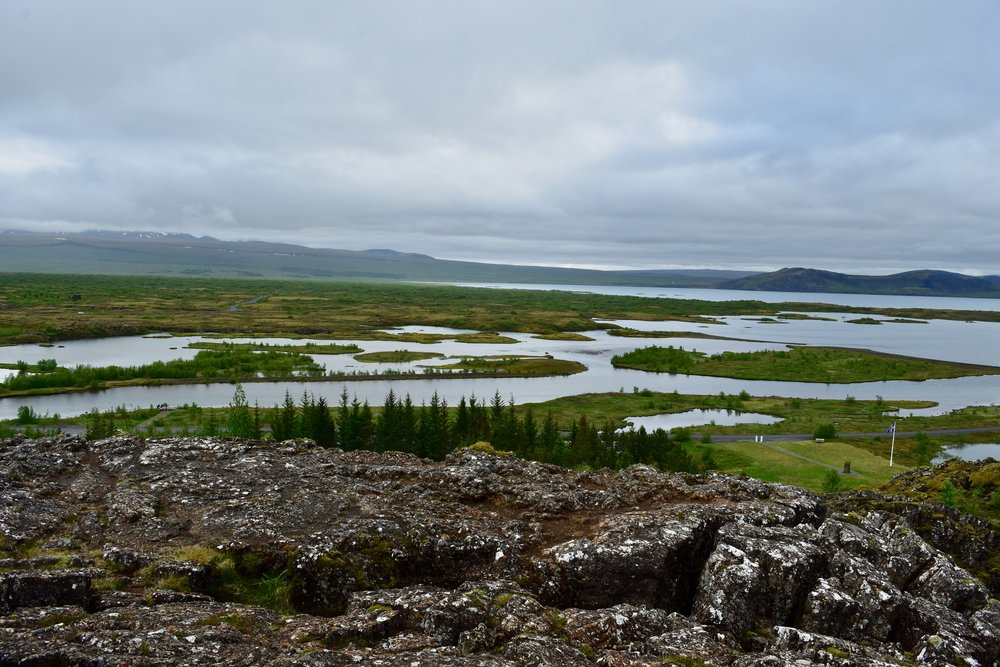 Thingvellir National Park in Golden Circle near Reykjavik, Iceland