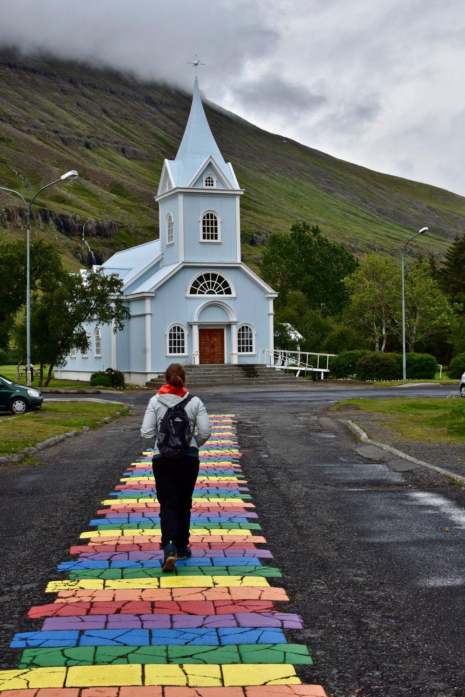 Rainbow Road of Seyðisfjörður