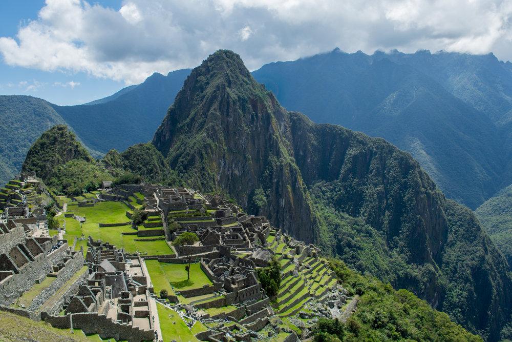 Machu Picchu in the Sacred Valley, Peru