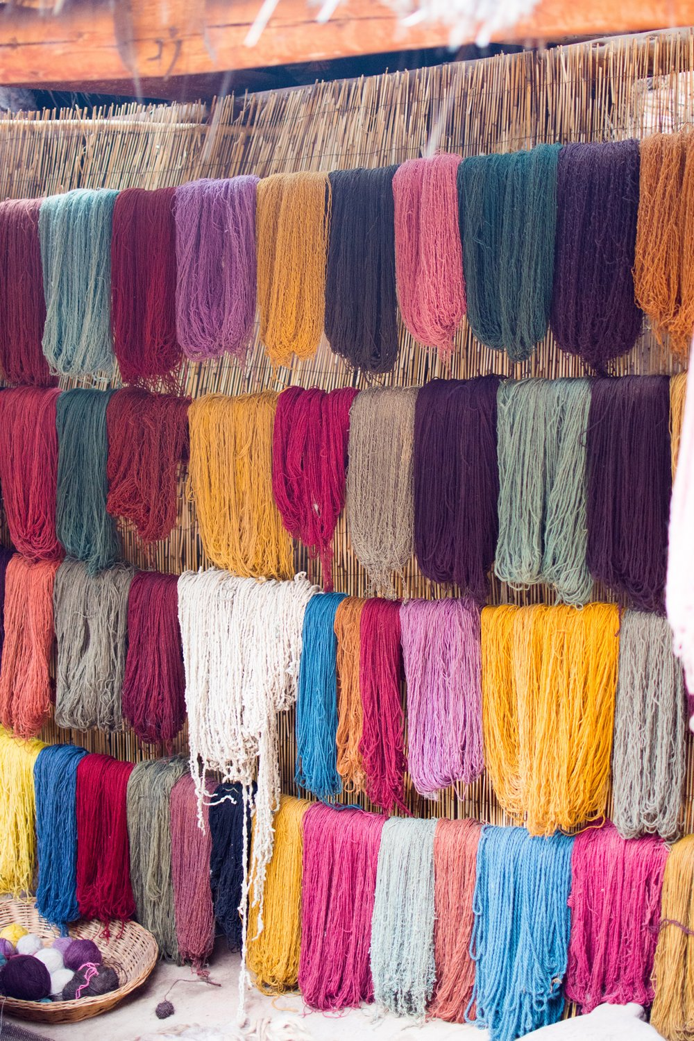Naturally dyed Baby Alpaca wool