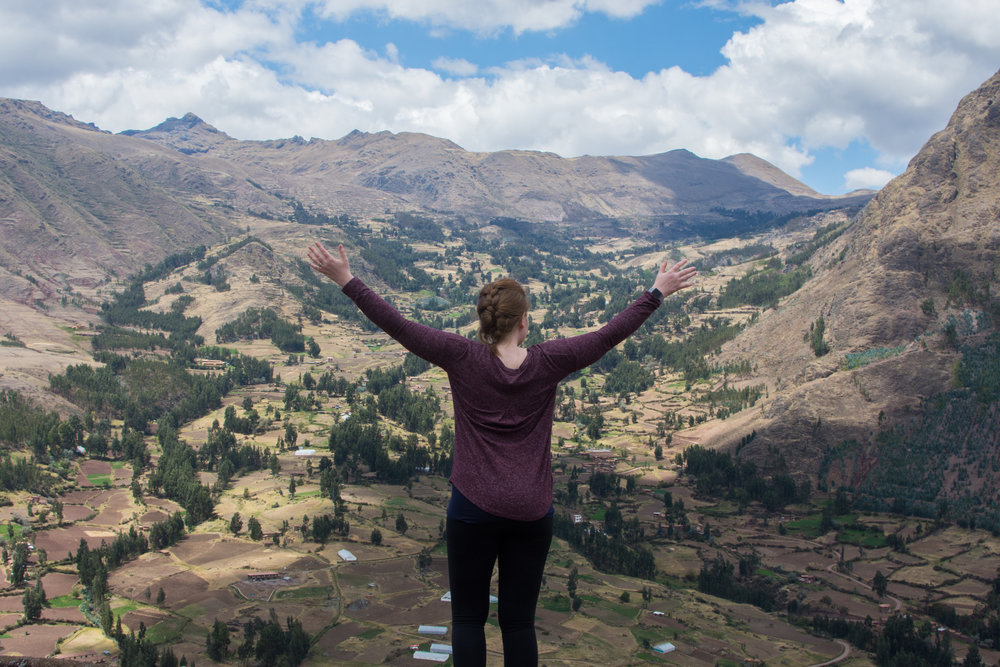 View of Sacred Valley from the Pisac Ruins