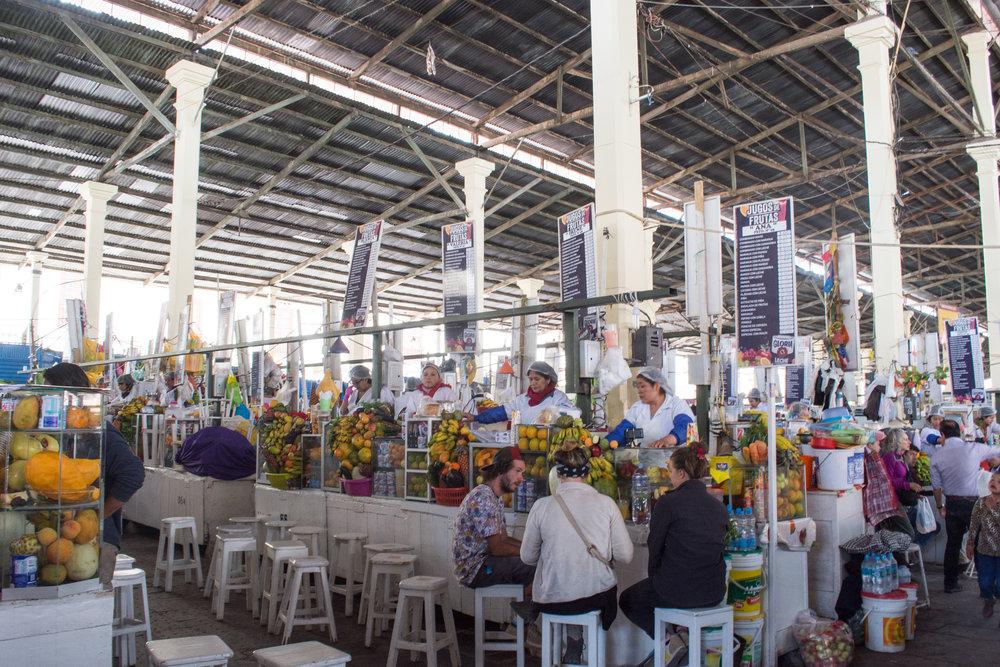 Fruit Juice Stalls at San Pedro Market
