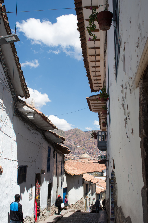 Quiet and Steep San Blas Streets