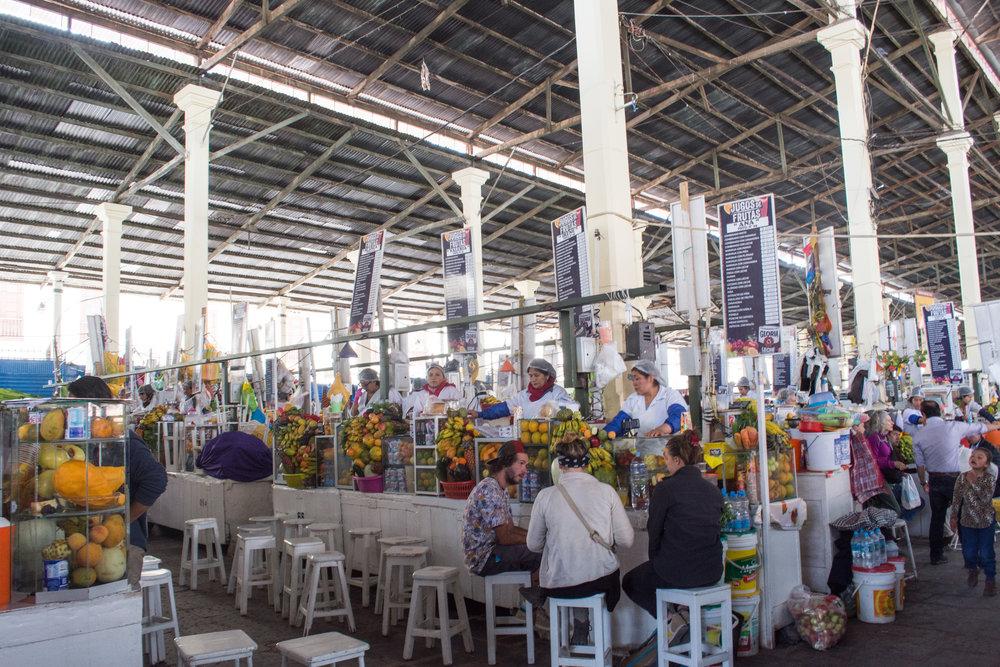San Pedro Market - Fruit Juice Stalls