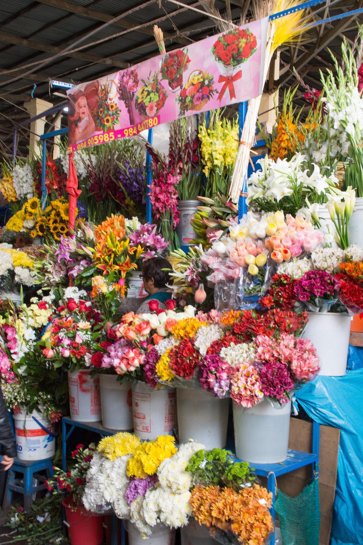 Flower Stall at San Pedro Market