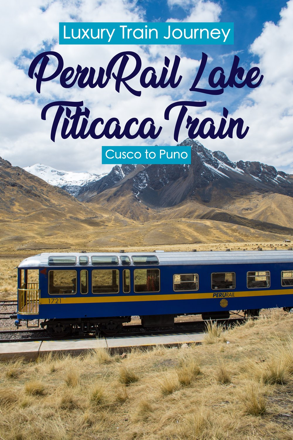 Best Luxury Train Ride in the World - Lake Titicaca Train Ride from Cusco to Puno in Peru through the Andes Mountains #Perurail #laketiticaca #peru #trainride #trains