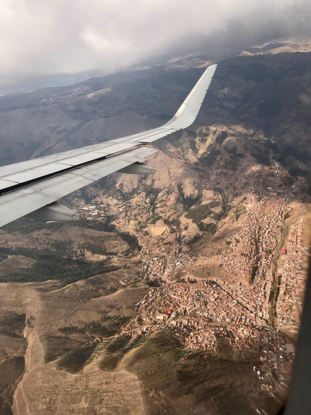 City of Cusco from the plane
