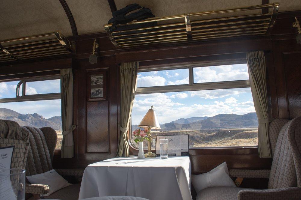 Dining Car on Train