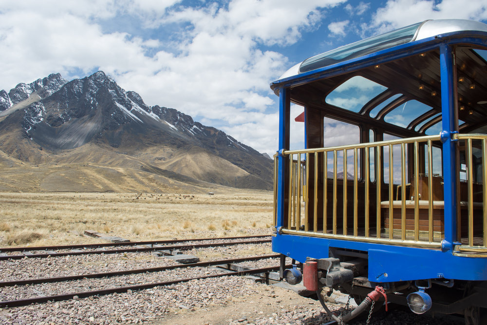 View and Observation Car on the Titicaca Train