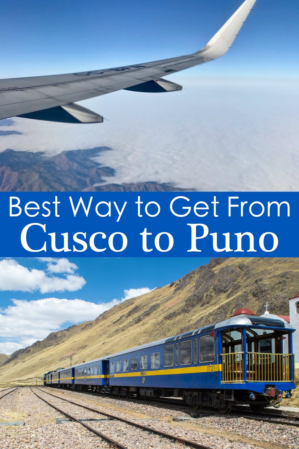 How do you get from Cusco to Puno, Peru?  This article details all of the ways to travel between the Sacred Valley and Lake Titicaca #Peru #Train