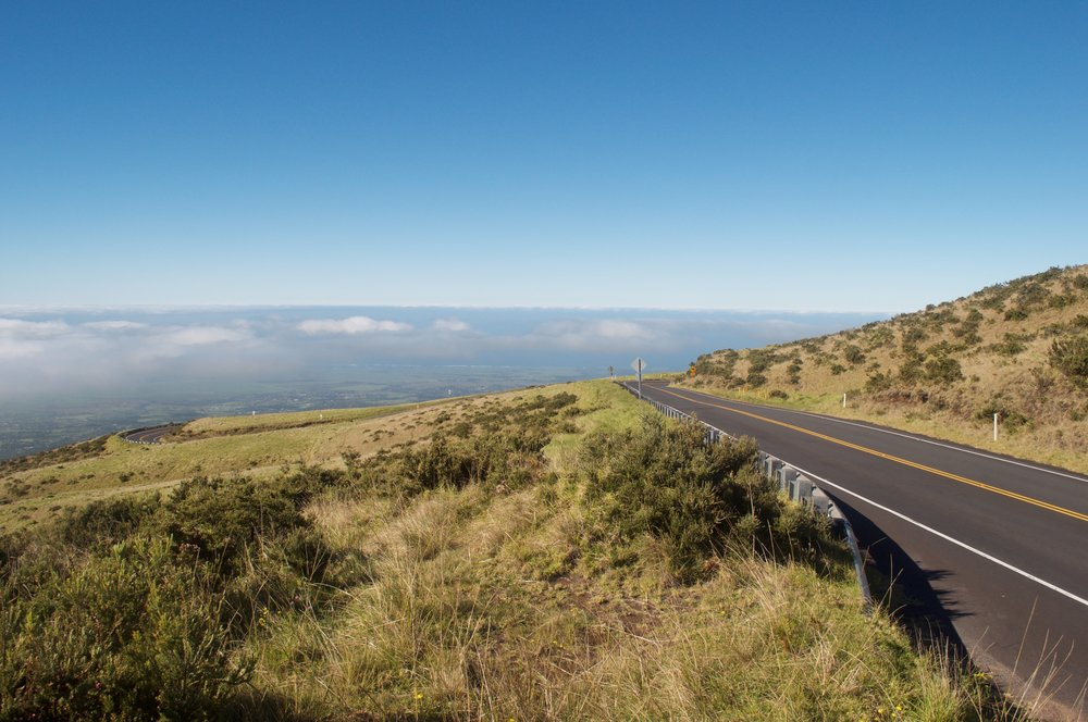 Road up Haleakala Mountain