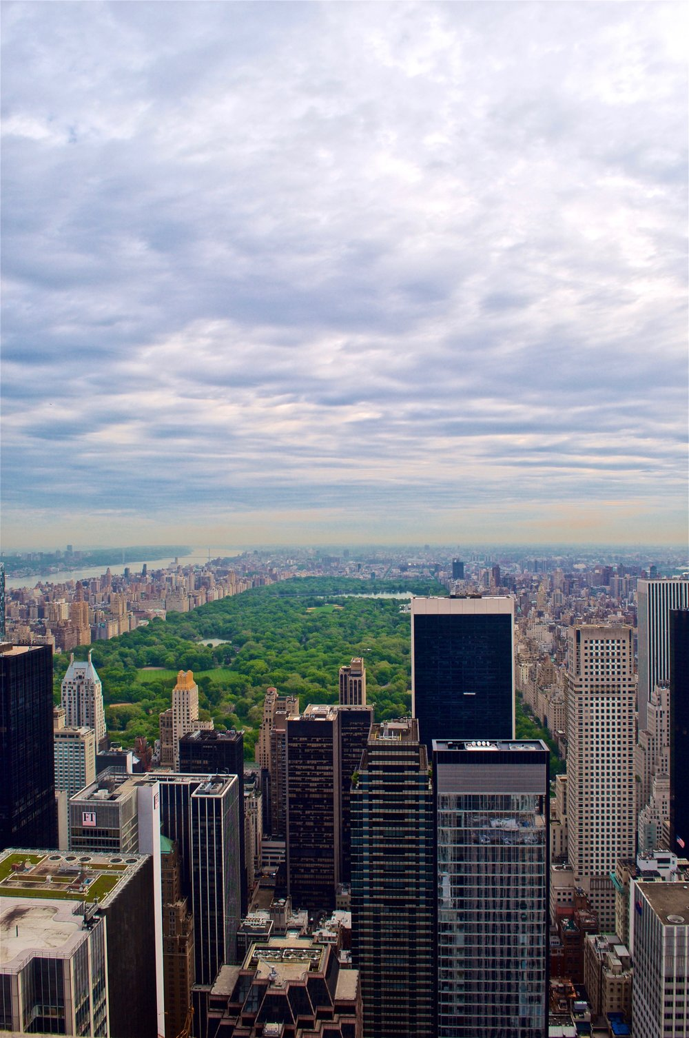 View of New York City from Rockefeller Center