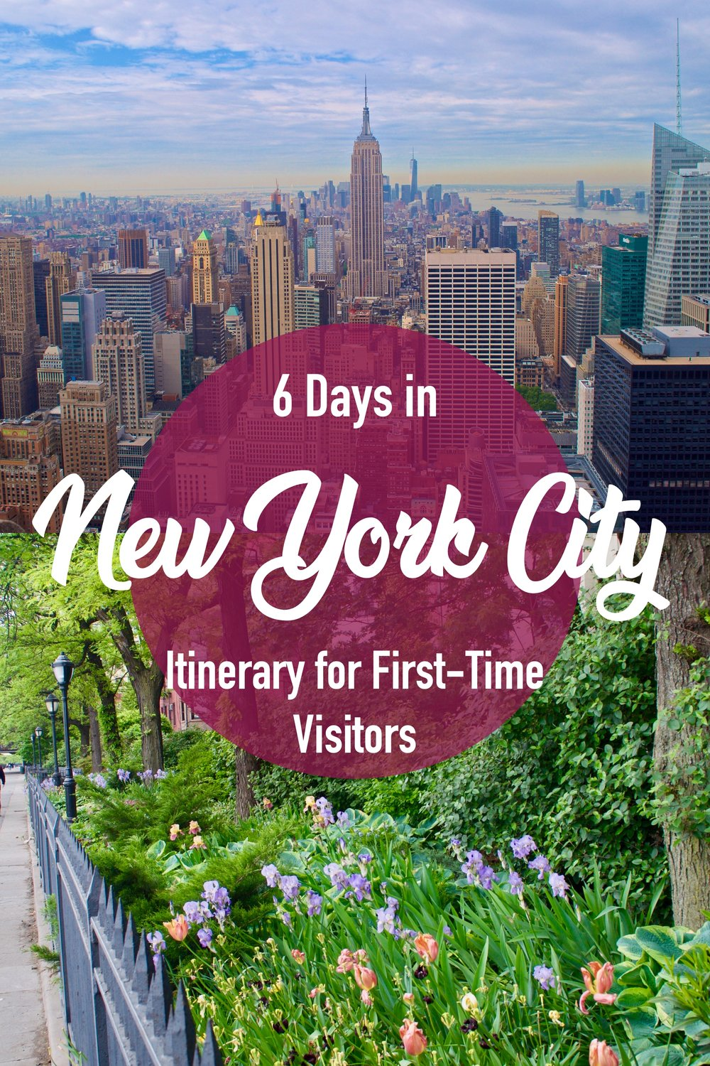 New York City Itinerary for First Time Visitors. 6 Days in New York City. Must See Sights including Central Park, Rockefeller Center, Brooklyn, and the Statue of Liberty #NYC #Newyorkcity #itinerary