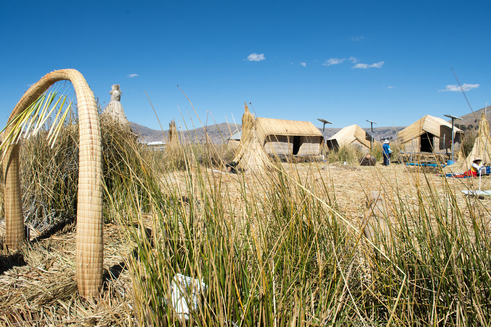 Typical Homes on Uros Island