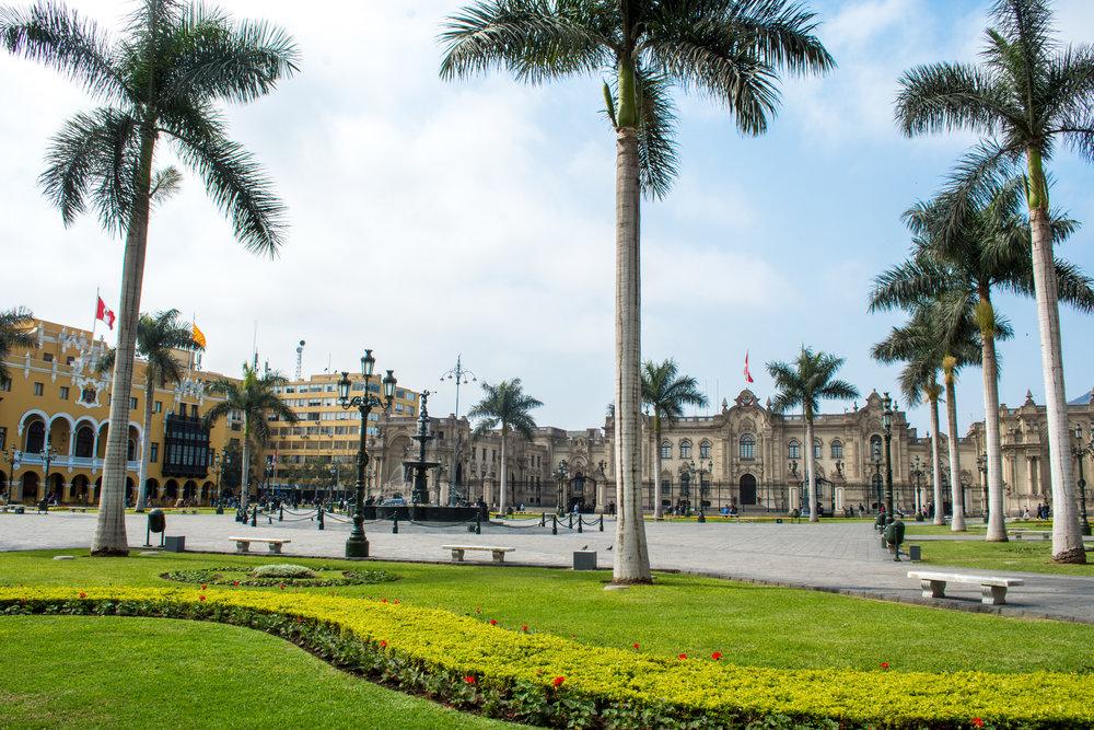 Plaza De Armas in Lima's Historic Center