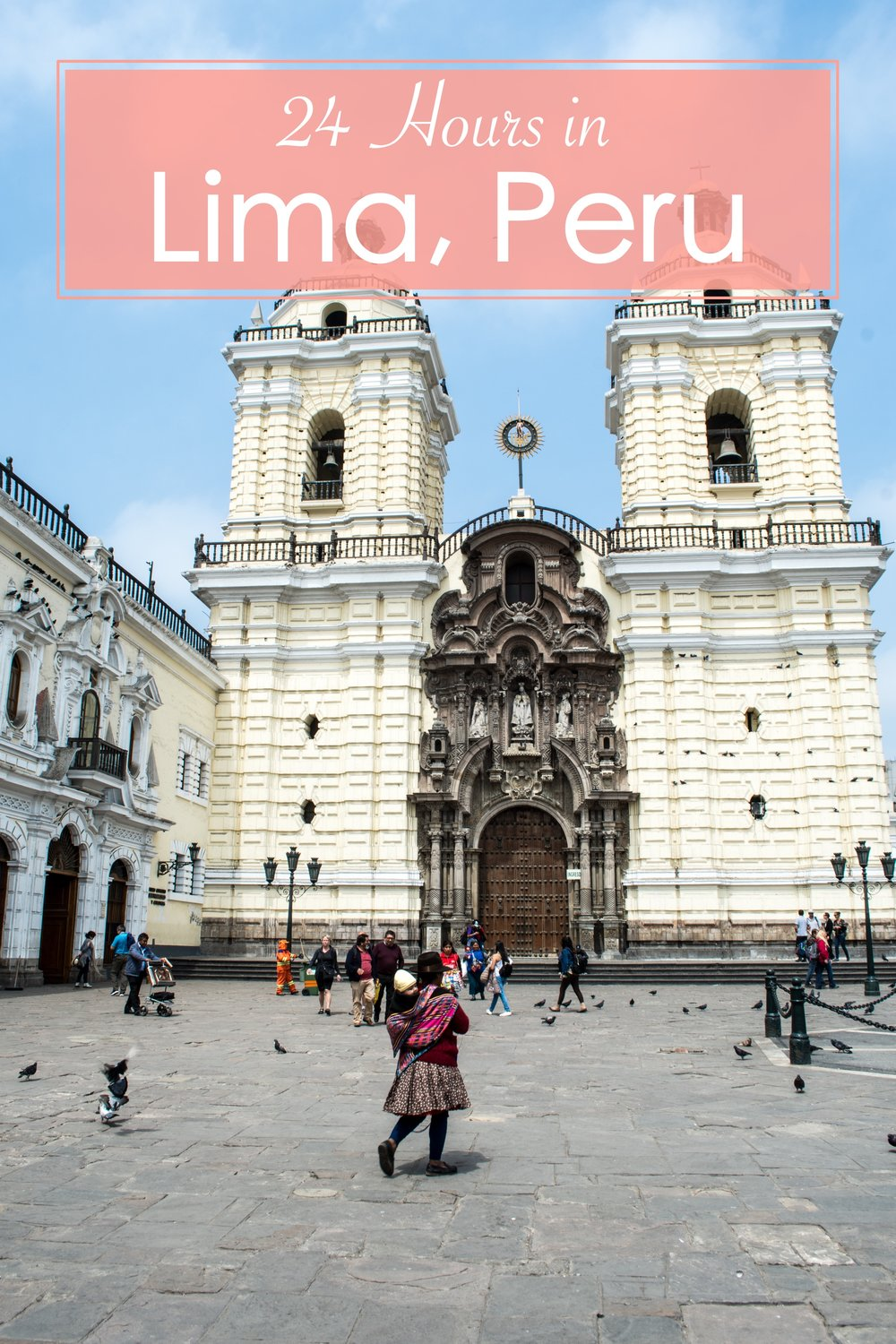 How to Spend 24 Hours in Lima, Peru. Lima is a lively city with amazing restaurants and nightlife, but also with plenty of parks and a long stretch of beach that offers visitors a chance to relax. One Day is all you need to explore the main sights and take in the Peruvian capital. #peru #lima #24hours #travelguide #southamerica